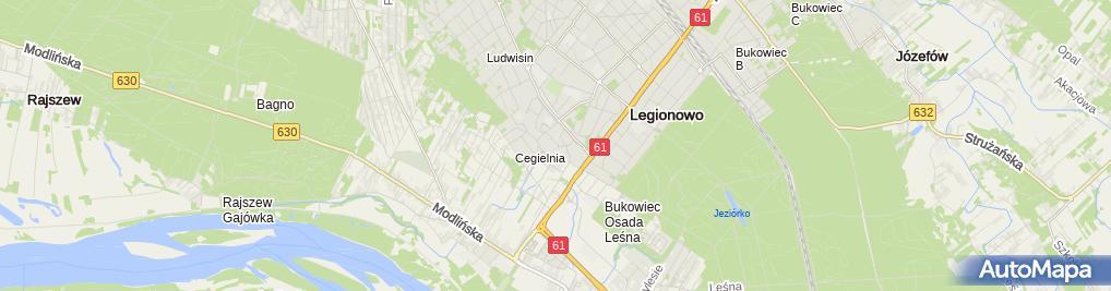 Zdjęcie satelitarne FUP Legionowo 1