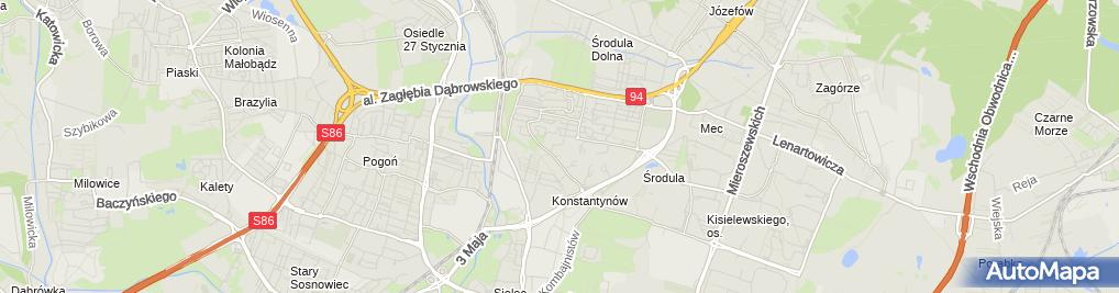 Zdjęcie satelitarne FUP Sosnowiec 19