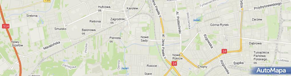 Zdjęcie satelitarne UP Łódź 71
