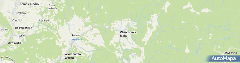 Zdjęcie satelitarne Chata pod Pustą