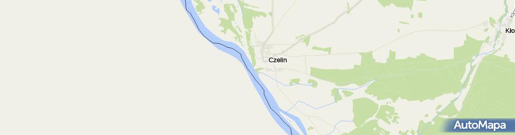 Zdjęcie satelitarne Pierwszy słup graniczny nad Odrą