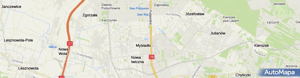 Zdjęcie satelitarne Centrum Medyczne Puławska Sp.z o.o.
