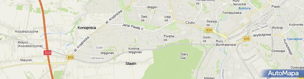 Zdjęcie satelitarne GASTROMED - Zakład Opieki Zdrowotnej