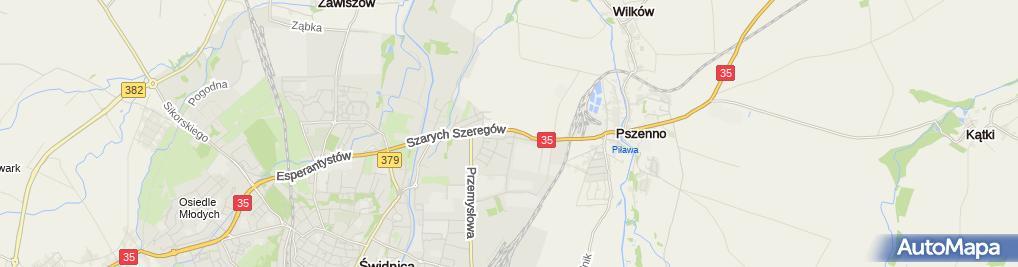 Zdjęcie satelitarne AAM Poland Sp. z o.o.