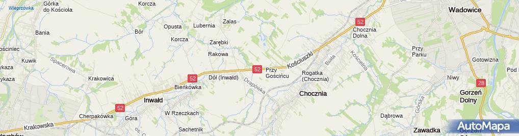 Zdjęcie satelitarne Alfa Szkło Radosław Sapeta