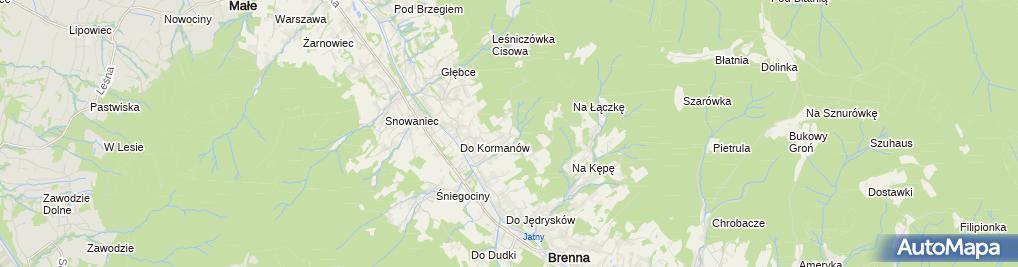 Zdjęcie satelitarne Andrzej Cieślar - Działalność Gospodarcza