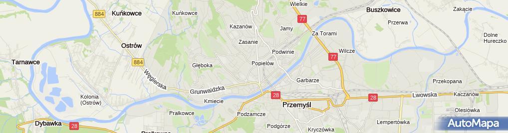 Zdjęcie satelitarne Biuro Obsługi Inwestycyjnej w Przemyślu