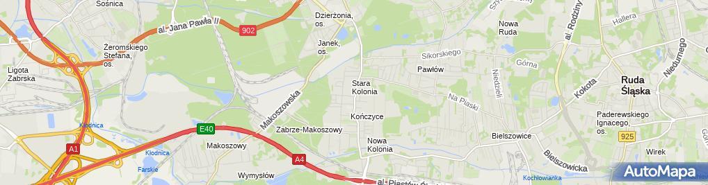 Zdjęcie satelitarne Firma Handlowo Usługowa Marko i Jolanta Tłuścik