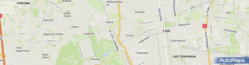 Zdjęcie satelitarne Halina Kuźnik - Działalność Gospodarcza