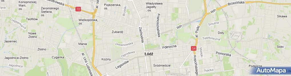 Zdjęcie satelitarne Handel Hurt Detal Obwoźny