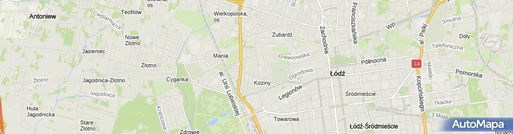 Zdjęcie satelitarne Krzysztof Kryger - Działalność Gospodarcza