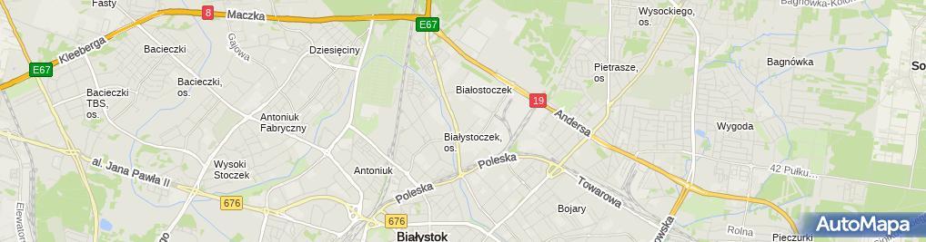 Zdjęcie satelitarne Pinki Baby Jerzy Czyżewski
