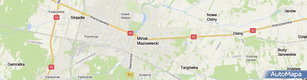 Zdjęcie satelitarne Powiatowy Urząd Pracy w Mińsku Mazowieckim