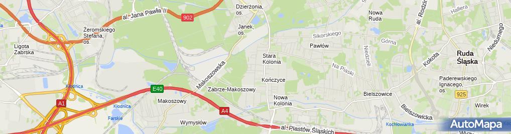 Zdjęcie satelitarne Sabina Popczyk Firma Handlowo Usługowa Bina