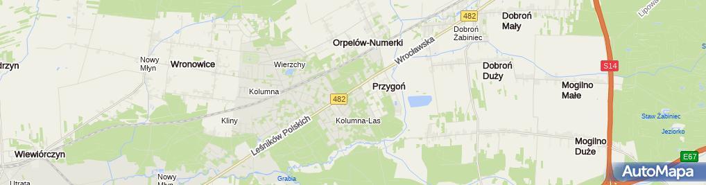 Zdjęcie satelitarne Restauracja Przygoń