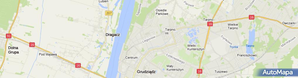 Zdjęcie satelitarne ŻAK