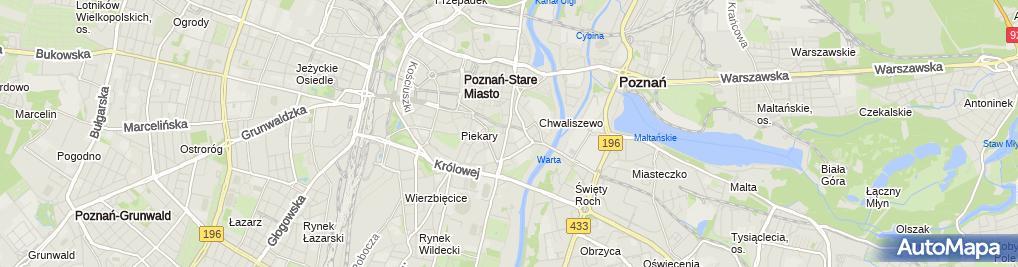 Zdjęcie satelitarne p.w. Św. Franciszka Serafickiego