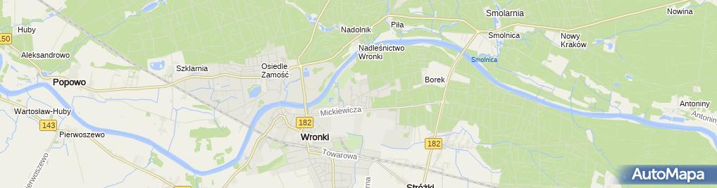 Zdjęcie satelitarne p.w. Św. Urszuli Ledóchowskiej