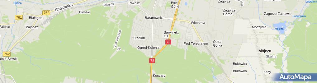 Zdjęcie satelitarne św. Stanisława BM