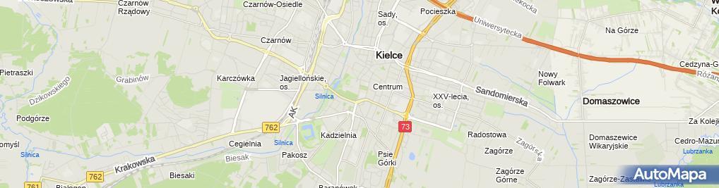 Zdjęcie satelitarne św. Trójcy - Wyższe Seminarium Duchowne