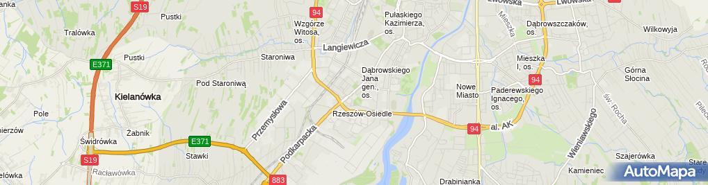 Zdjęcie satelitarne Powiatowa Stacja Sanitarno-Epidemiologiczna w Rzeszowie