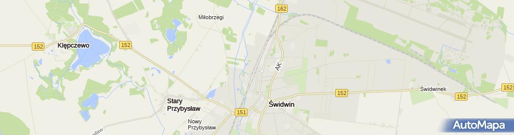 Zdjęcie satelitarne Świdwin