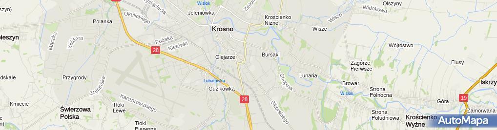 Zdjęcie satelitarne Osiedlowe Stowarzyszenie Tenisowe OST Osiedla IM KS Markiewicza