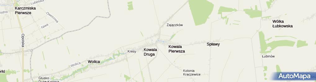 Zdjęcie satelitarne Ochotnicza Straż Pożarna w Kowali Pierwszej