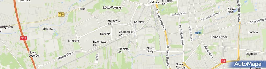 Zdjęcie satelitarne Integracyjna SP nr 67 Zespołu Szkół Integracyjnych nr 1