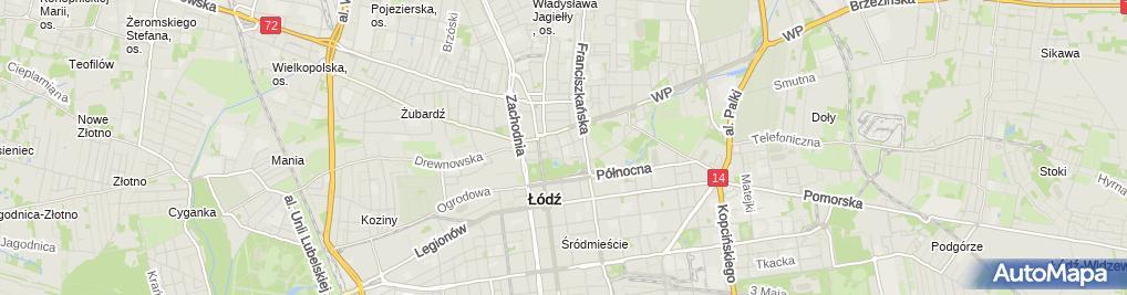 Zdjęcie satelitarne SP nr 45 im. Jana Matejki