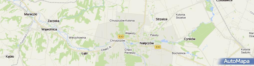 Zdjęcie satelitarne Zespół Szkół im. Zygmunta Chmielewskiego