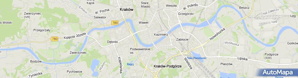 Zdjęcie satelitarne Szpital Uniwersytecki