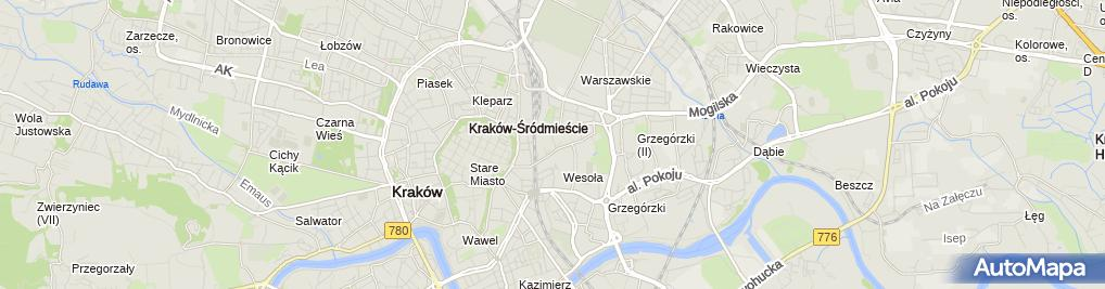 Zdjęcie satelitarne Wojewódzki Specjalistyczny Szpital Dziecięcy św. Ludwika