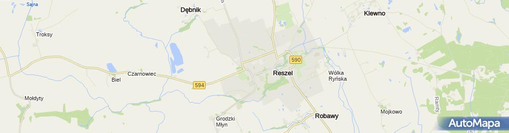 Zdjęcie satelitarne Zespół Szkół im. Macieja Rataja w Reszlu