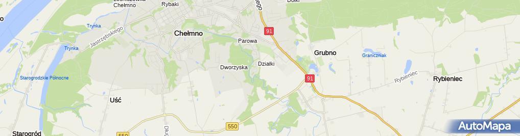 Zdjęcie satelitarne Tor Motocrossowy