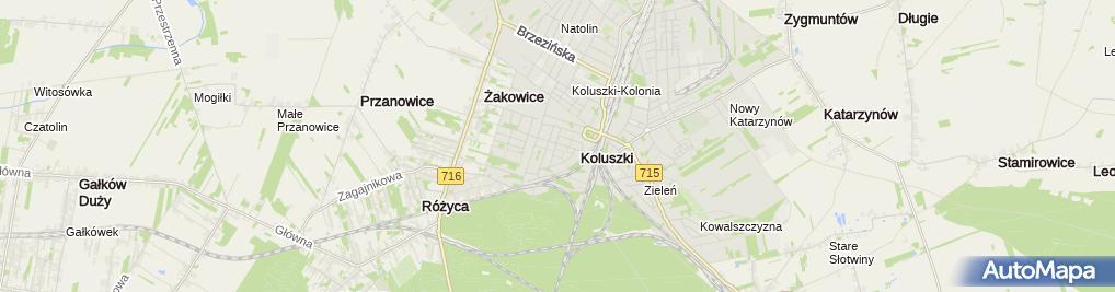 Zdjęcie satelitarne Stacja transformatorowa