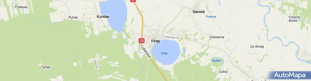 Zdjęcie satelitarne Urząd Gminy Firlej