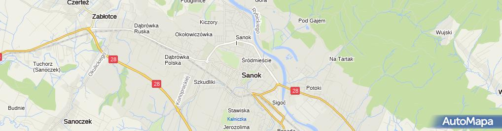 Zdjęcie satelitarne UM