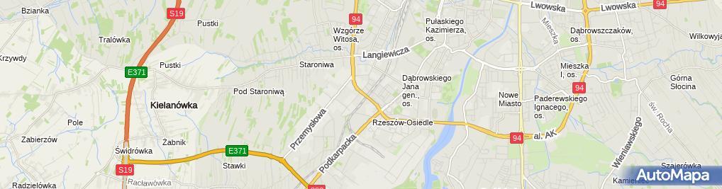 Zdjęcie satelitarne Centrum Aktywizacji Zawodowej