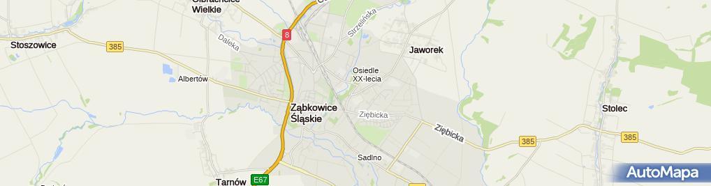 Zdjęcie satelitarne Powiatowy Urząd Pracy