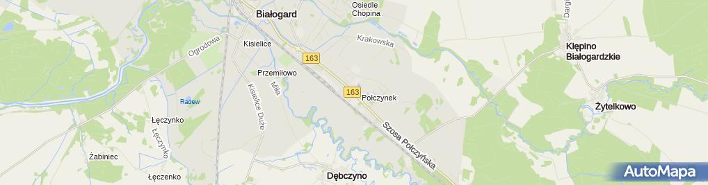 Zdjęcie satelitarne Serwis opon
