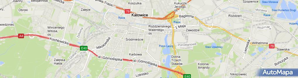 Zdjęcie satelitarne Katowice - Kościół pw. Wniebowzięcia NMP