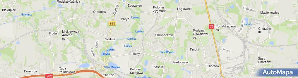 Zdjęcie satelitarne Kosciol Matki Bozej Rozancowej w Swietochlowicach-stare