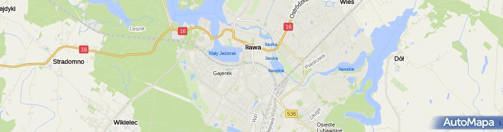 Zdjęcie satelitarne Kościół NPNMP Iława