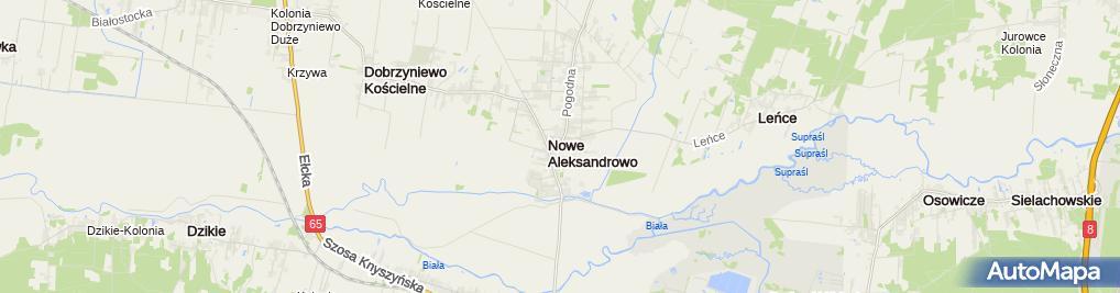 Podlaskie Dobrzyniewo Duze Nowe Aleksandrowo S Droga V Nne