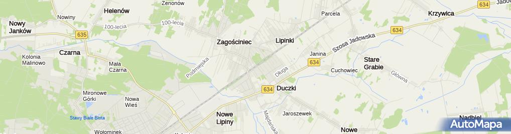 Zdjęcie satelitarne Stacja kolejowa Zagościniec(2)