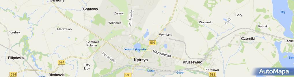 Zdjęcie satelitarne Tablica LO Kętrzyn