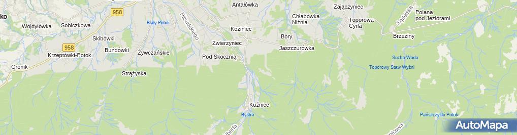 Zdjęcie satelitarne Widok na Kuźnice i Kasprowy Wierch