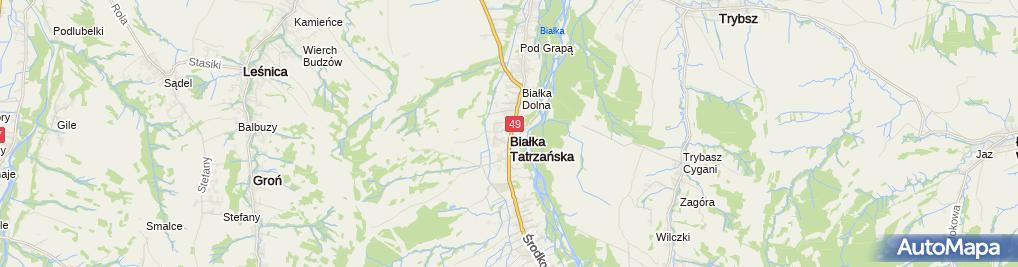Zdjęcie satelitarne Zabytkowykościółek