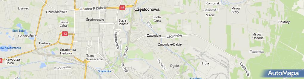 Zdjęcie satelitarne Zoologiczny